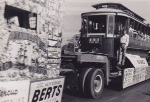 Berts tucks participating in a local parade