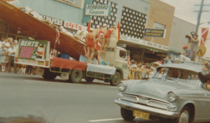 Berts delivery truck participating in a parade